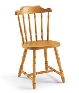 Chucky, Chaise entièrement en pin massif, pour les chalets et tavernes