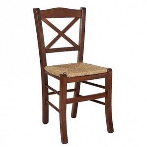 Claudia, Chaise de paille tissé, pour un mobilier rustique