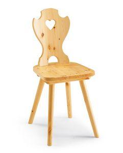 Corazon, Chaise du lin entièrement en bois, percé de retour