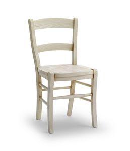 DAMA, Chaise robuste en bois de frêne solide