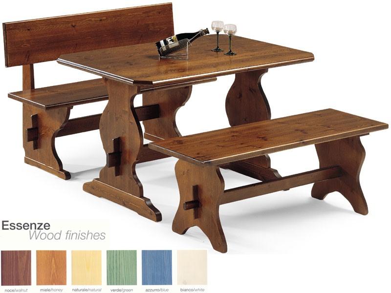 FRA/130, Simple, banc en bois massif, pour une taverne