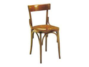 Milano, Chaise solide en bois courbé, pour les pubs et maison de la bière
