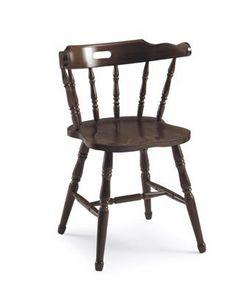Old America, Chaise rustique en bois, avec dossier en modèle vertical