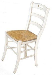 Ophélie BR.0202.P, Chaise avec assise en paille, style classique