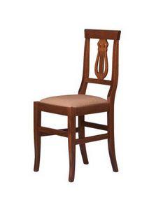 R02, Chaise rustique en bois massif, siège dans divers matériaux