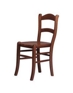 R06, Chaise rustique en hêtre massif, assis dans divers matériaux