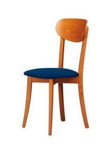 R12, Chaise en bois naturel, adapté aux cuisines classiques et rustiques