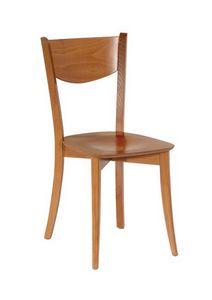 R13, Chaise en bois avec des lignes simples, des restaurants et des bars