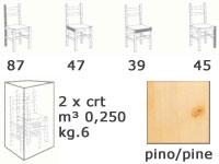 S/101 curva cuore, Président tout en bois, dans un style rustique