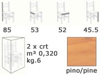 S/104 old america, Chaise rustique en bois pour pub et auberges