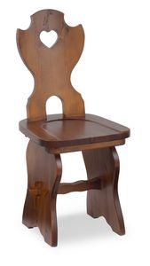 S/106 Chaise Fratino, Chaise en bois en pin massif, pour hôtels de montagne