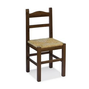 S/109 P Anita Paille, Chaise avec assise en paille, pour les résidences rustiques