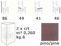 S/127 P Paesana paille, Chaise rustique en pin massif, avec siège en paille