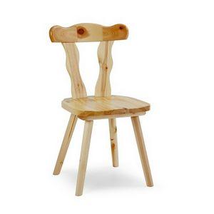 S/135 Patrizia chaise, Chaise rustique en pin, pour brasseries et caves