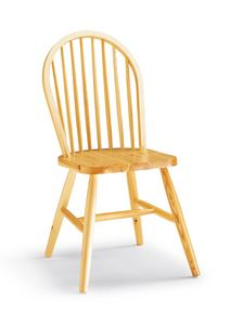 S/146 Windsor chaise, Chaise rustique entièrement en pin, avec lattes verticales