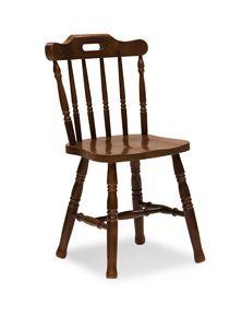 S/149 Country chaise, Chaise rustique en pin, avec lattes verticales, pour tavernes