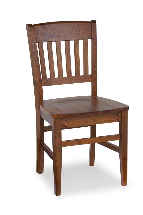 S/155 Veronica Chaise, Chaise rustique en bois, de retour avec le modèle vertical