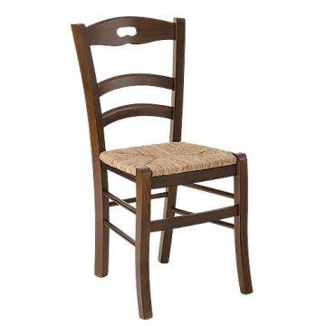 Savoy foro, Chaise rustique avec assise en paille pour le restaurant de la ferme