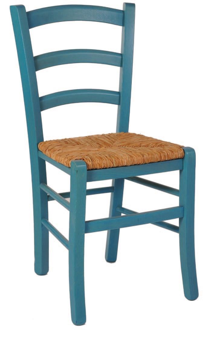SE 119, Chaise en bois rustique avec de la paille, pour un bar à vin