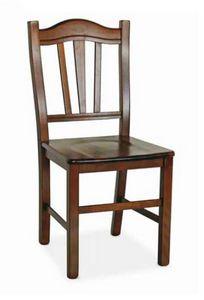 Silvana, Chaise en bois, avec un style rustique