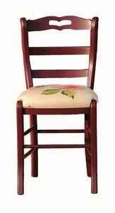 Valérie BR.0202.T, Chaises avec le tissu ou le siège en cuir
