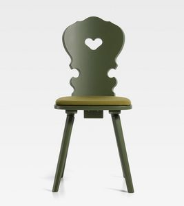 Vienna, Chaise en bois avec un design traditionnel