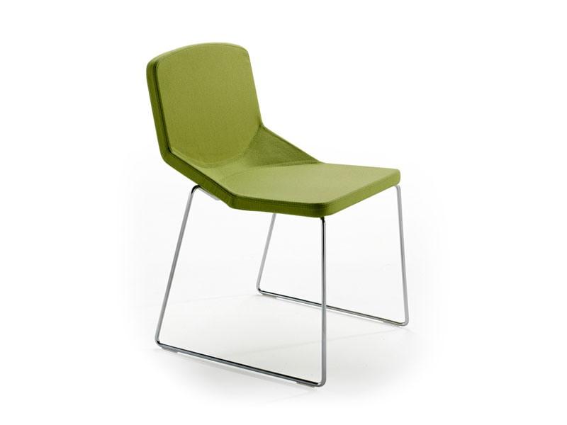 Formula40 sled fabric, Chaise moderne avec un produit ignifuge siège rembourré, idéal pour l'usage de contrat