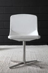 Formula40 x-foot, Chaise élégante avec un design propre, siège rembourré et dossier ignifuge