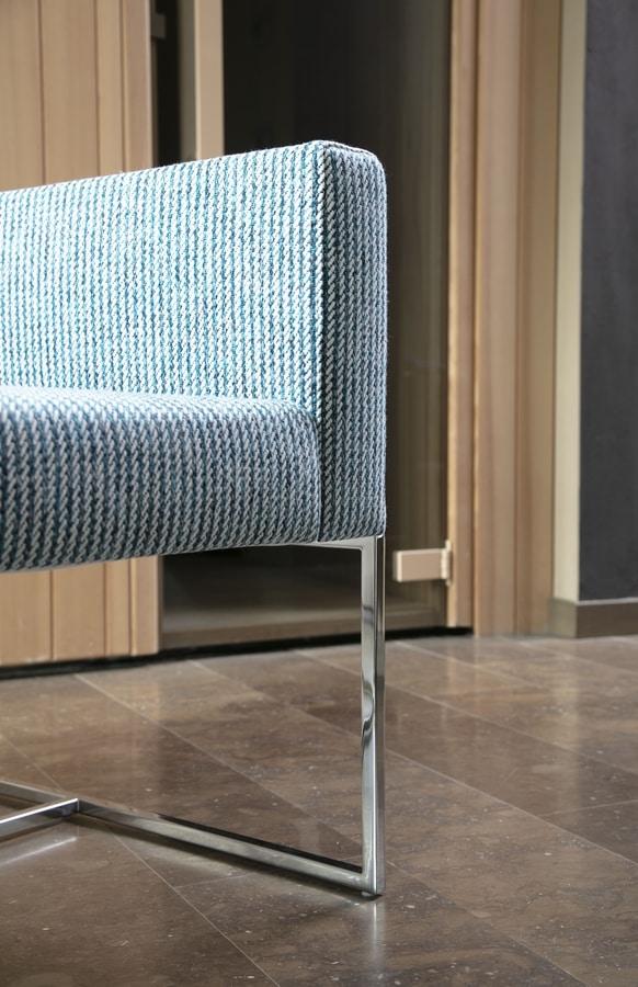 Square armchair, Fauteuil moderne avec tube carré, pour une utilisation du contrat