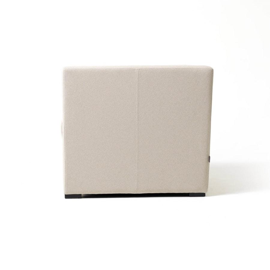 Toffee 1p, Fauteuil carré avec structure interne multicouche