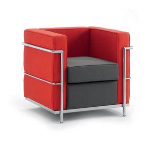 UF 160, Chaise confortable, cadre en acier chromé, pour les bureaux modernes