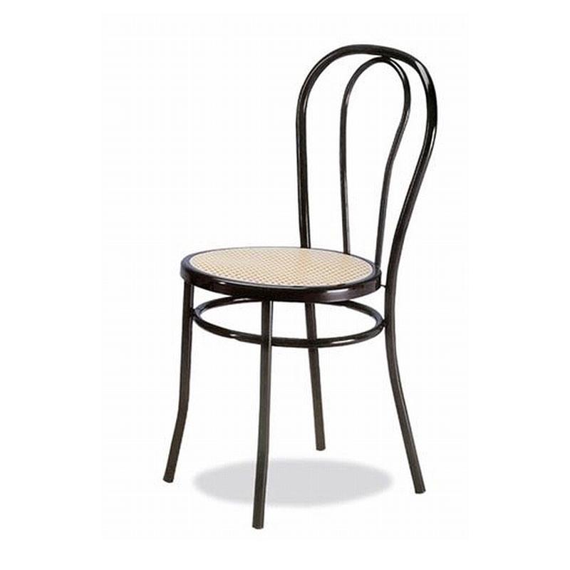002, Chaire en métal incurvé, assis dans la paille de Vienne