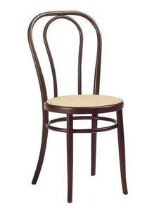 01, Chaise viennoise en bois, différentes couleurs et assise