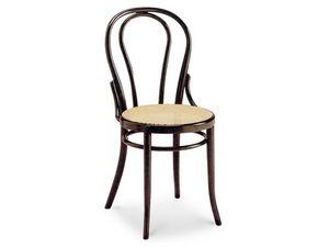 01/CR, Chaise en bois avec siège dans la canne et le dossier ovale