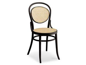050, Chaise en bois avec assise et dossier en canne