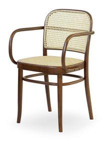 06/CB, Chaise en bois avec assise et dossier fait de la canne, pour les bars