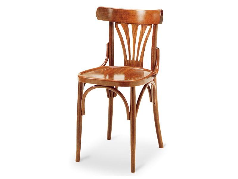 092, Chaise en bois sans accoudoirs, style ancien