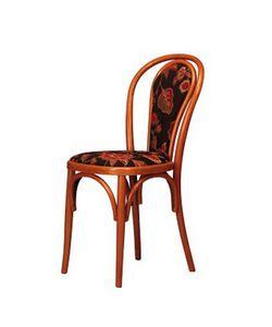 105, Chaise en hêtre courbé, rembourrée, pour la barre et à la maison
