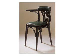 121TS, Chaise en bois cintré, pour bar à vin et bière maison