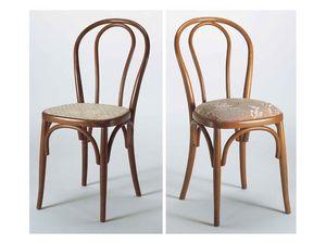 129, Chaise avec dossier en bois courbé, différentes finitions