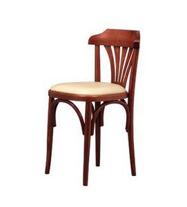 131, Rétro chaise en hêtre courbé, pour les bars à vin et pizzerias