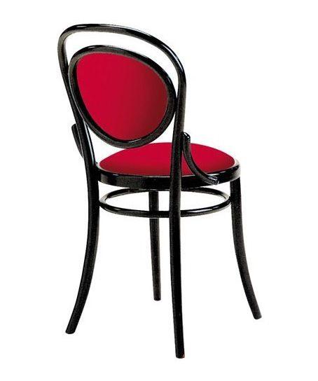 2003, Chaise viennoise en bois, garnie