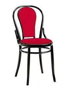 2006, Chaise viennoise en bois, garnie