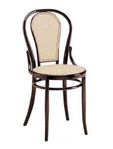 21, Chaire en bois avec assise et dossier de canne