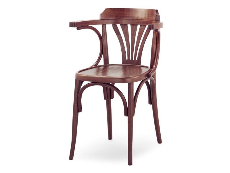600, Chaise en bois avec accoudoirs, style viennois