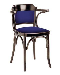 600/imb, Chaise viennoise en bois, garnie