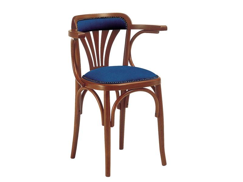 620, Chaise en bois avec siège rembourré, pour les bars et pubs