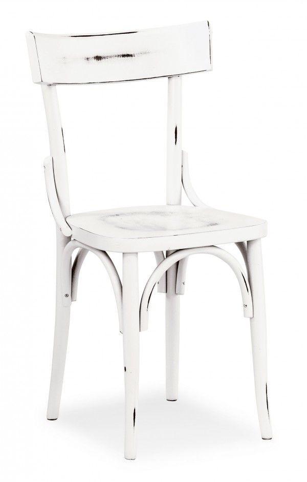 B08, Vintage chaise en bois courbé, en différentes couleurs