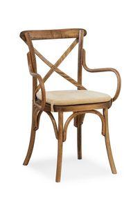 Ciao CB PILL, Chaise en bois cintré avec accoudoirs