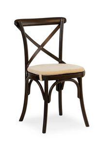 Ciao Pill, Chaise en bois massif, divers revêtements